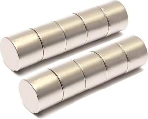 Adraxx 10pcs N52 Strong Neodymium Discs Cylinder Rare Earth 6x10mm