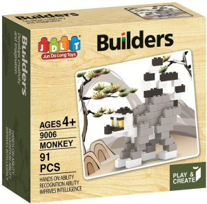 Saffire Play and Create Monkey Builders Block Set - 91 Pieces