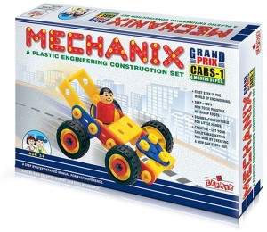 Wish Kart Mechanix Metal Extra Fun and Creativity Loaded for Boys and Girls (57 Pieces)