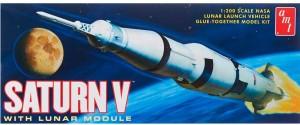 AMT USA 1/200 Scale Saturn V Rocket Plastic Model Kit