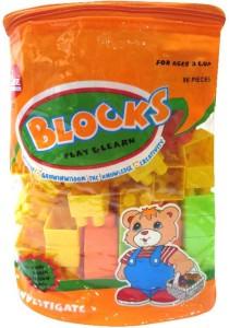 DCS Building Blocks Play & Learn (86 Pieces)- Multi-colour