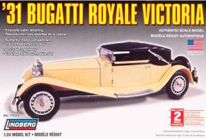 Lindberg USA 1/24 Scale '31 Bugatti Royale Victoria Plastic Model Kit