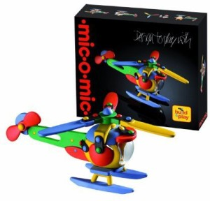 Mic-O-Mic Building Set Helicopter Chopper Construction Kit 63  PieceMulticolor