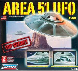 Lindberg USA 1/48 Scale Area 51 UFO Plastic Model Kit