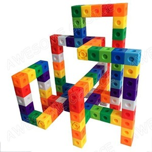 AWESOME CHOICE Unlimited Creation Cubes 100 Piece Snap Cubes Mathlinks Cubes Unit Cubes Centimeter Cubes Math and Interlocking Building Set Kids Safe Material! Lab Test Approved with ATC Certificate!