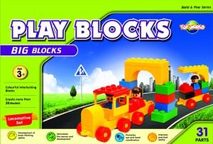 Virgo Toys Play Blocks Locomotive Set