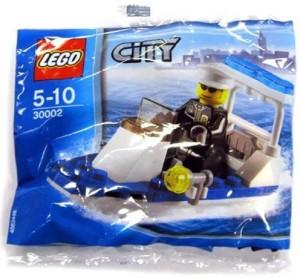 Lego City Police Boat 30Piece Construction 30002