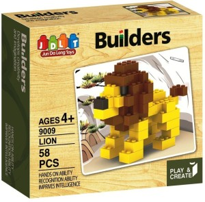 Saffire Play and Create Animal Builders Block Set - 58 Pieces