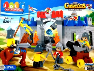Jaibros Play and Create Castle Block Construction Game