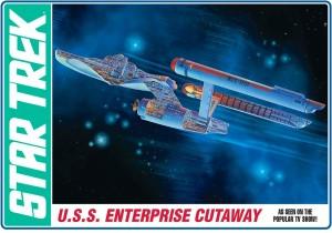 AMT USA 1/537 Scale USS Enterprise Cutaway Plastic Model Kit