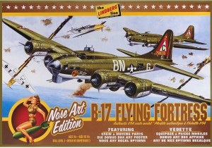 Lindberg USA 1/64 Scale B-17G Bomber Nose Art Edition Plastic Model Kit