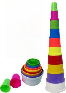 Wish Kart Children Educational Toy Building Blocks (Shapes and Colours) 10 PCS Set