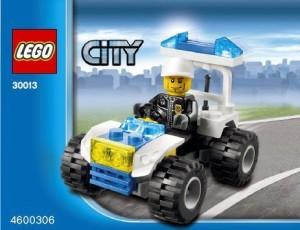 Lego City Mini Set 30013 Police City Quad Bagged