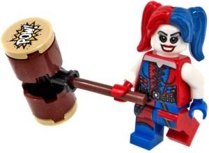 Lego Batman Minfigure - Harley Quinn with Hammer