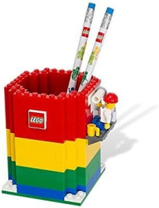 Lego Pencil Holder & Mini & 2 Pencils 850426