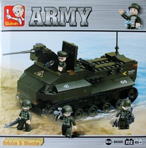 Army M38B6300 Sluban Armored Vehicle223 Piece Building Set