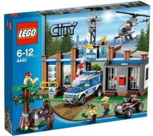 Lego City Forest Police Station W/ Helicopter & 5 Minifigures