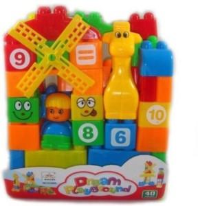 KTS khalsa toys and sales 35pcs. Building Blocks for kids (Multicolor)