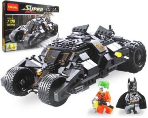 Emob 325 PCS Super Heroes DIY Bat Tank Block Set with 2 Minifigures and Brick Separator