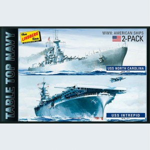 Lindberg USA 1/1200 Scale 2 Pack Table Top Navy Ships Plastic Model Kit