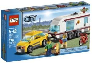Lego City Town Car And Caravan 4435