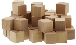 Juvale Wood Cubes - Wooden Squares - Craft Cubes Squares Dice Natural Blank Unfinished Blocks