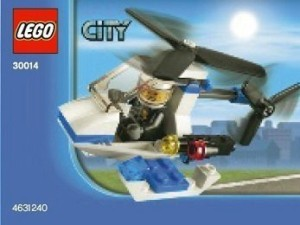 Lego City Police Helicopter Bagged (30014)