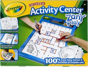 crayola dry erase activity center zany play edition board game best