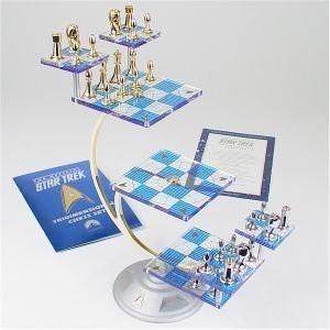 Star Trek Tridimensional Chess Set The Franklin Mint Board Game Best