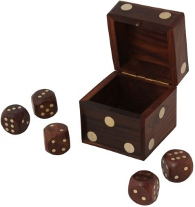 Pindia Beautiful Decorative Square Shape Box Game Ludo Dice 2x2 Board Game