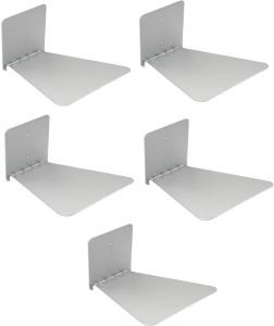 IBS Set of 5 Invisible Bookshelf Floating Design Home Decor Office Hidden Wall Mount Bookcase Metal Open Metal Open Book Shelf