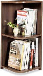 Debono Jolly Corner Book Rack with Three shelves Engineered Wood Open Book Shelf