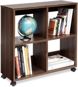 Debono Admire Book Rack on Castors Engineered Wood Open Book Shelf