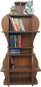 GR8 BUNCH Solid Wood Semi-Open Book Shelf