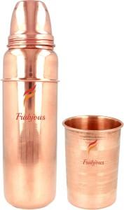 Frabjous pure copper 300ml glass | For Ayurveda Health Benefits Sports School Travel Purpose 900 ml Bottle