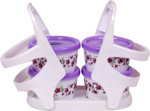 RichCraft International Fruits & Nuts 4+1 (purple) Microfibre Bowl Set