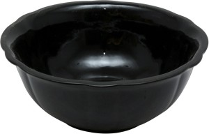 Stonish Ceramic handmade Serving in Royal Black Colour Stoneware Bowl