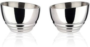 Arttdinox Ribbed Nut Bowl Stainless Steel Bowl Set