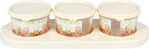 Jaypee Plus Serve 3 - Ivory/Transparent Flower Plastic Bowl Set