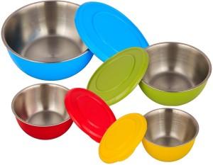 Lavi Stainless Steel, Plastic Bowl Set