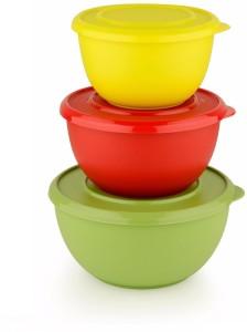 Lavi Microwave Safe Classic Cook & Serve Multi-Purpose Stainless Steel, Plastic Bowl Set