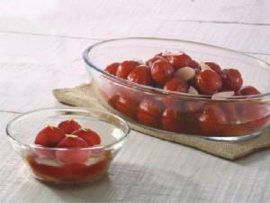 Borosil Dessert Set- 1 Oval Dish + 6 Katories Borosilicate Glass Bowl Set