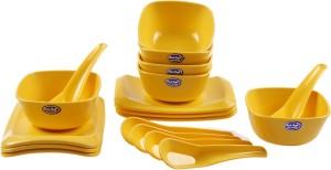 Rich Craft Sip Sap Soup Bowl 18 Pcs (Yellow) Microfibre Bowl Set