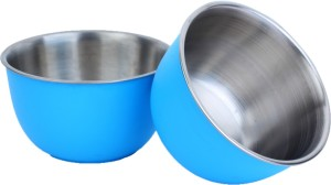 Homeish Plastic Coated - 13 Cms Stainless Steel Bowl Set