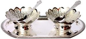 Stonkraft Engraved Silver Coated Brass Bowl Set