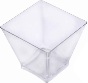 BuyersChowk 50 ml Mousse Cup Square Plastic Disposable Bowl