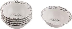White Gold Trendy Melamine Bowl Set