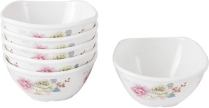 White Gold Melamine Bowl Set