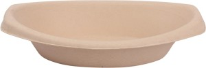 Pappco Greenware 650 ML Multipurpose Oval Bowl (Pack Of 10) Paper Disposable Bowl