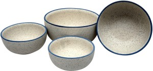 Stonish ceramic/handmade serving in White Matte colour Stoneware Bowl Set